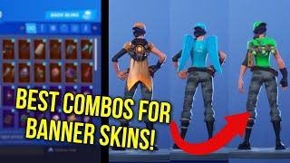 *NEW* FORTNITE BANNER SKINS SHOWCASED WITH THE BEST COMBOS! BEST COMBOS FOR BANNER SKINS FORTNITE
