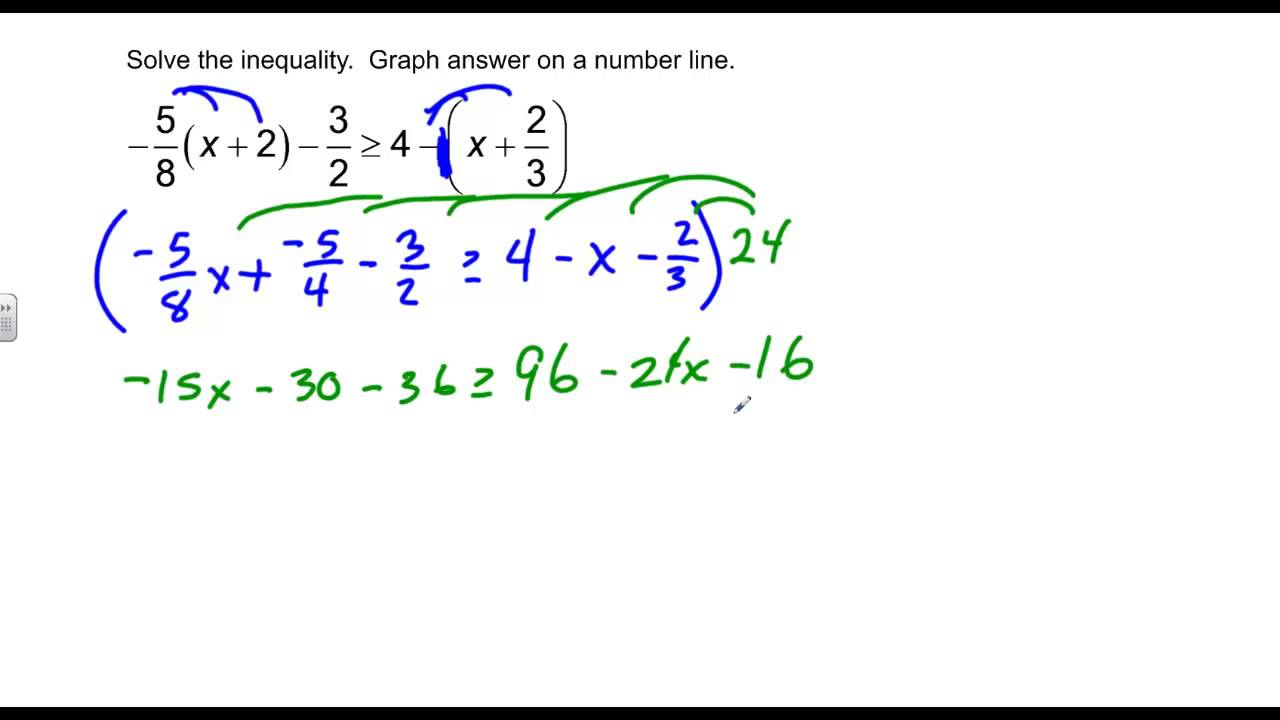 Lesson 30 Solving Multi-step Inequalities - YouTube