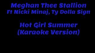 Meghan Thee Stallion - Hot Girl Summer ft. Nicki Minaj, Ty Dolla $ign Karaoke Version