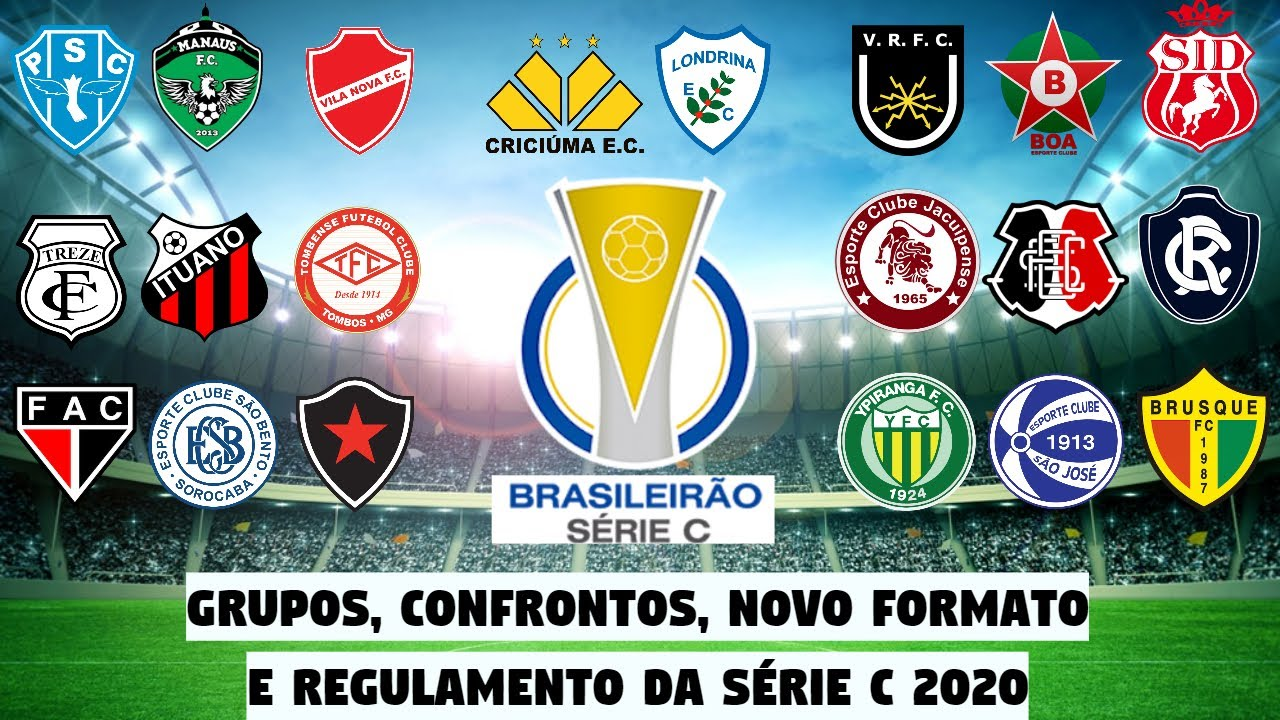 Grupos Confrontos 1º Rodada Novo Formato E Regulamento Do Campeonato Brasileiro Serie C 2020 Youtube