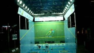 Hong Kong Squash Open 2008 Women Semifinal, Rachel Gringham vs Natalie Grinham Warm-up to 1st game