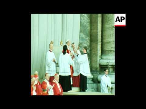 UPITN 1 7 75 POPE PAUL VI ORDAINS 354 PRIESTS