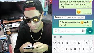 BROMA PESADA a la MAMÁ DE MI AMIGO por WhatsApp | (Me manda fotos) | Jacob Valencia