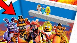 NO CAIGAS A LA PISCINA DE ANIMATRÓNICOS EN MINECRAFT FNAF 😱 | FIVE NIGHTS AT FREDDY