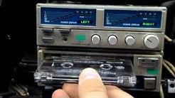 Vintage SANSUI Car Hi-Fi Components Cassette Deck SX-5 & Amplifier SA-3