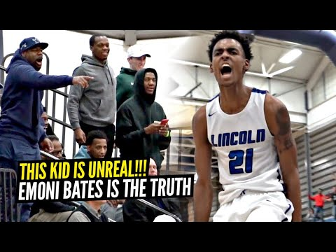 Emoni Bates WILD 48 Points vs AAU Teammate In front of Cassius Winston & Michigan State Players!