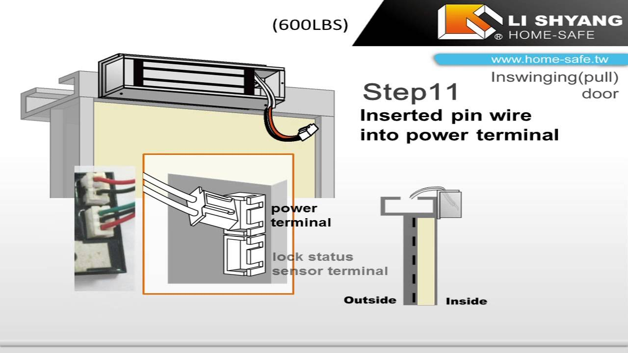 maxresdefault li shyang f&z(600lbs) installation on a pull (inswinging) door locknetics maglock wiring diagram at edmiracle.co