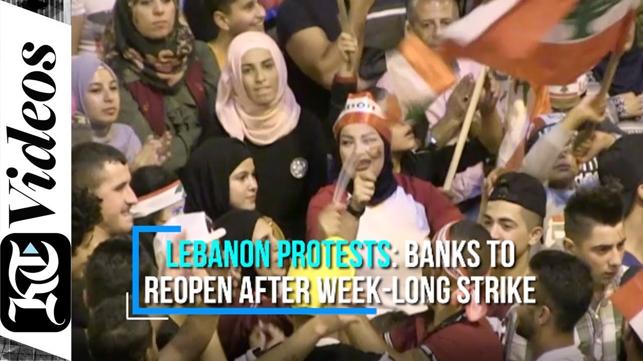 Lebanon protests: Banks to reopen after week-long strike