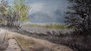 Рисуем лесной пейзаж гуашью поэтапно. Как нарисовать пейзаж