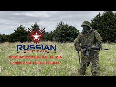 Camouflage Effectiveness of the Russian EMR Digital Flora pattern. Layer 5 Demi-Season Suit.