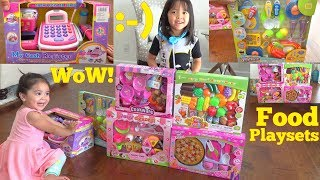 Children's Food Toys. Cash Register Playset, Kitchen Playset and Cooking Pretend Playtime