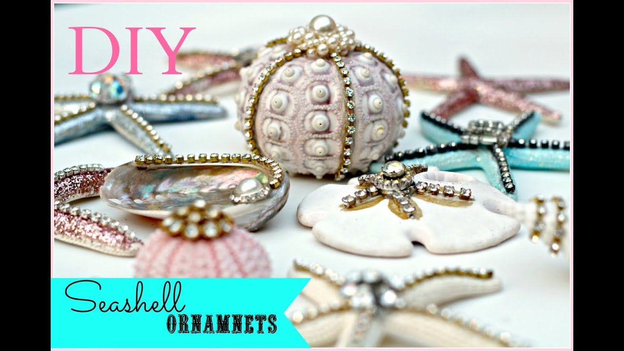 diy seashell christmas ornaments youtube