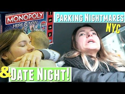 NYC Parking NIGHTMARE & AT HOME MONOPOLY DATE NIGHT IDEA!