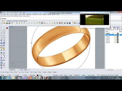 Моделирование простого кольца в программе Rhinoceros5 . 3d Modeling