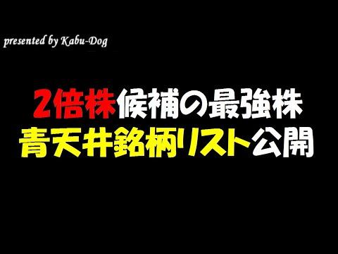 【2倍株候補の最強株】暴落待ちの株価青天井銘柄リスト公開