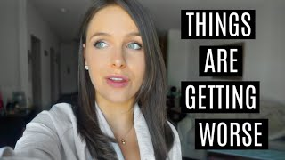 VLOG: things are getting worse + going back to work