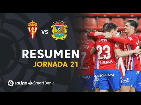 Gijon CF Fuenlabrada Goals And Highlights