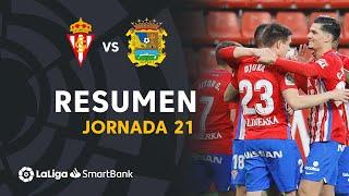Resumen de Real Sporting vs CF Fuenlabrada (2-1)