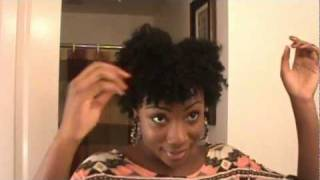 defined dry twist out tutorial on short natural hair