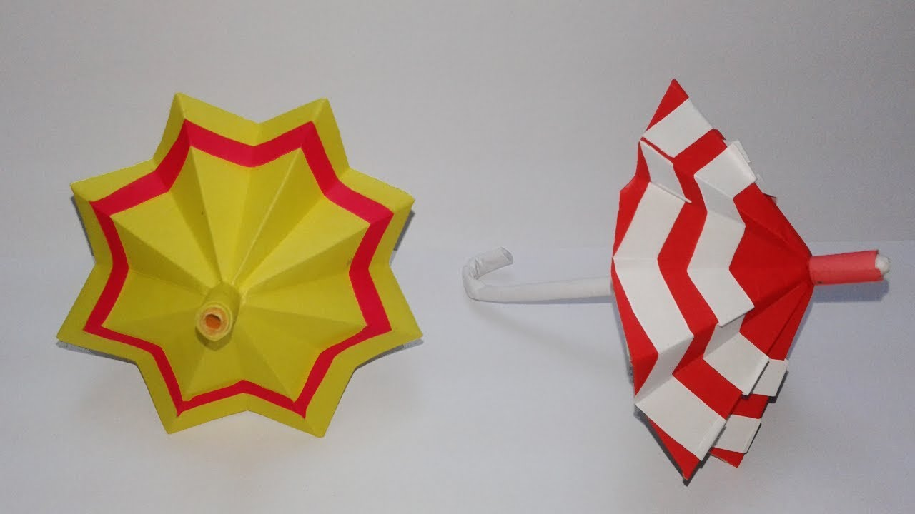 How To Make A Paper Umbrella Easy CraftDIY Origami