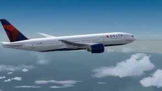 Wings flexing under high turbolence - PMDG  Boeing 777