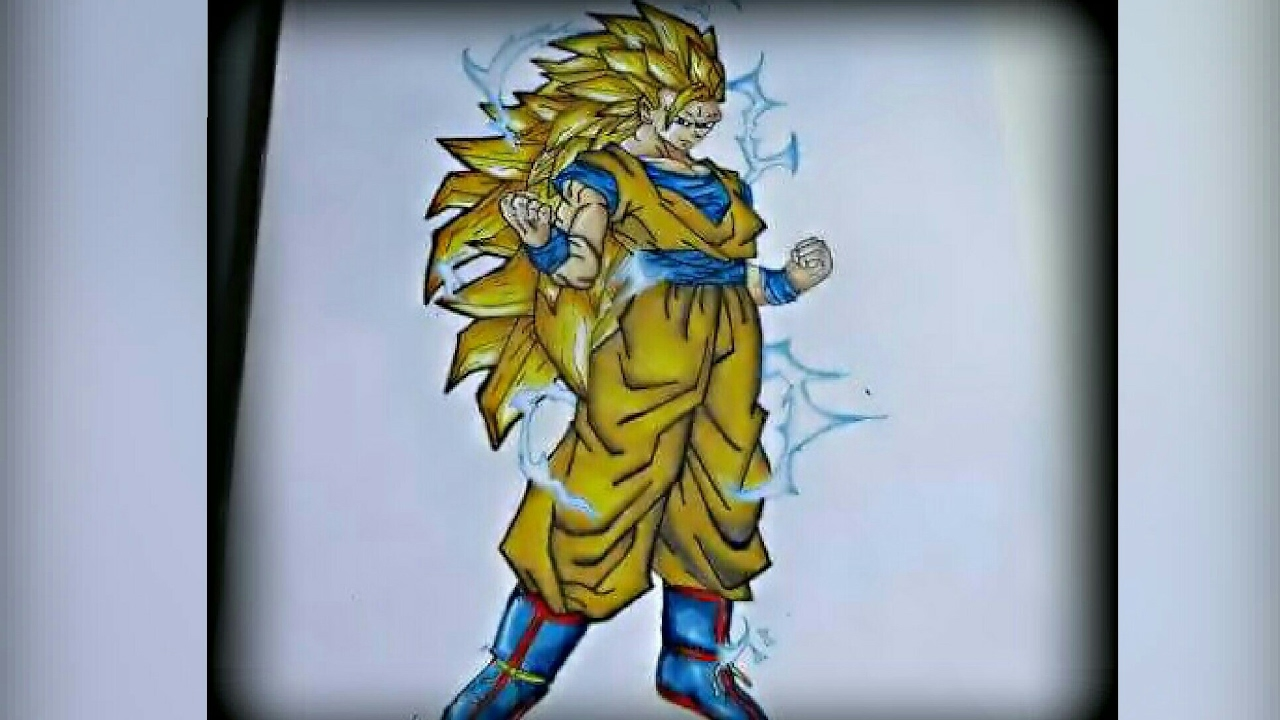 Como Dibujar A Goku Fase 3 How To Draw Goku Fase 3 Youtube