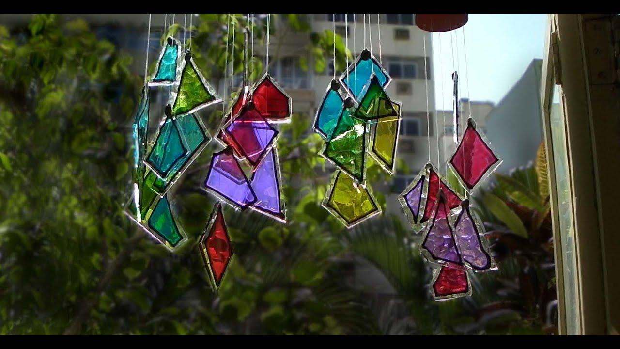 Som Do Vento Artesanato Com Vidro Crafts With Glass
