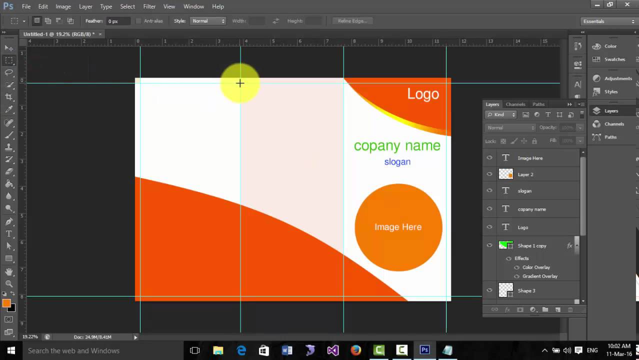 How to design a brochure in photoshop cs6 youtube for How to design a brochure in photoshop