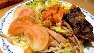 """Eating Japanese Food """"hiyashi Chuka & Spare Ribs"""""""