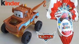 cars surprise egg disney cars pixar toys giant kinder egg kids flash mcqueen unboxing