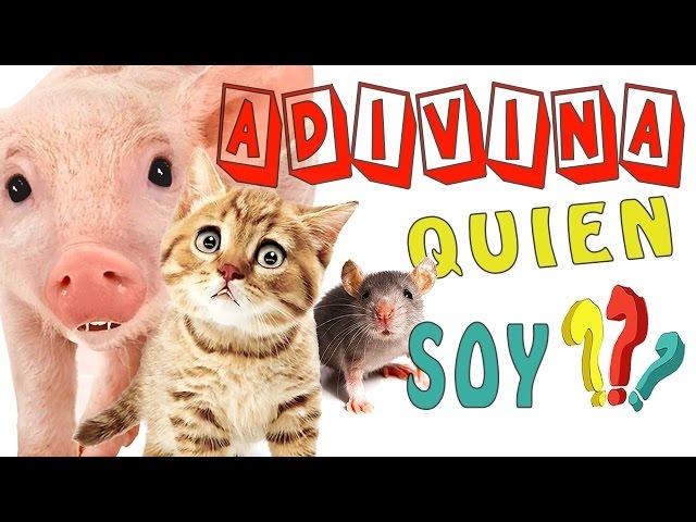 ADIVINA QUIEN SOY  1/ VÍDEOS PARA NIÑOS PEQUEÑOS/ ADIVINANZAS INFANTILES CON LOS ANIMALES EN ESPAÑOL