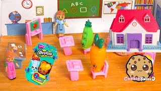 Back To School Classroom Playset With Teacher & Principal & Shopkins Season 3 Blind Bag Unboxing
