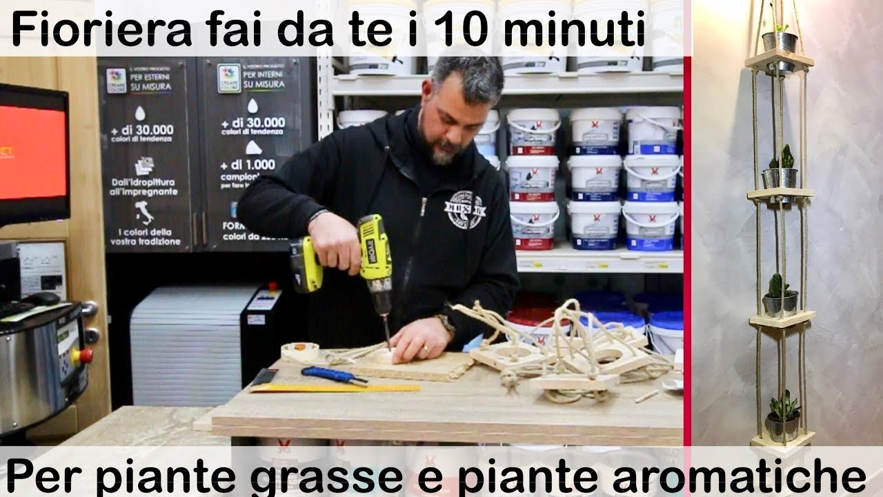 Fioriere Originali Fai Da Te fioriera sospesa per piante grasse, fai da te, in 10 minuti. facile ed  economica.