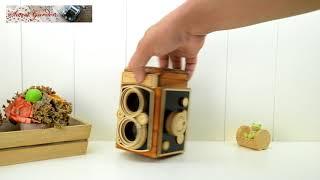 復古仿中型相機造型音樂盒