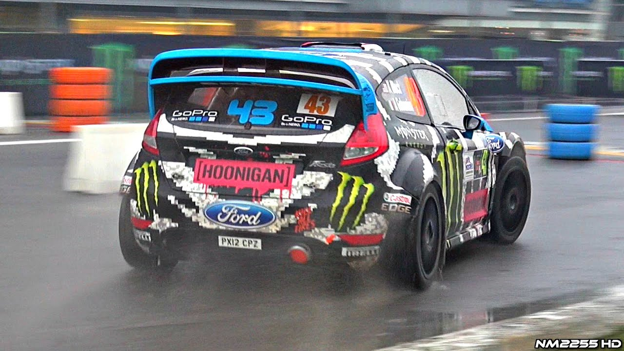 Ken Block Driving and Doing Donuts in his Ford Fiesta WRC - 2014 ...