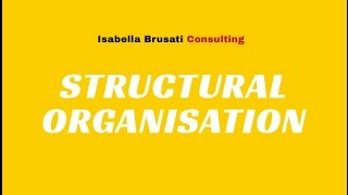 VIDEO 2 - FUNCTION BASED ORGANISATIONAL STRUCTURE