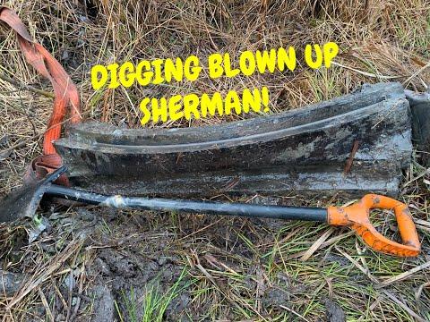 WW2 Kurland Echo, Digging Blown Up SHERMAN!!! ENG SUB.