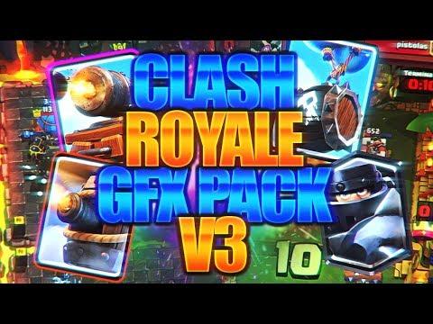 ACTUALIZADO!!! CLASH ROYALE GFX PACK V3 | PARA PC Y ANDROID!!! DESCARGALO YA!!! PACK GFX | BYPROWN