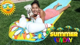 Summer Fun!! Water Slide |B2cutecupcakes