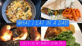 WHAT I EAT IN A DAY INTERMITTENT FASTING 16:8 I LOST 65 LBS IN 5 MONTHS EATING THIS EVERYDAY!