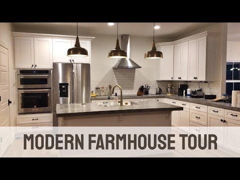 Modern Farmhouse House Tour - See our Custom Built House