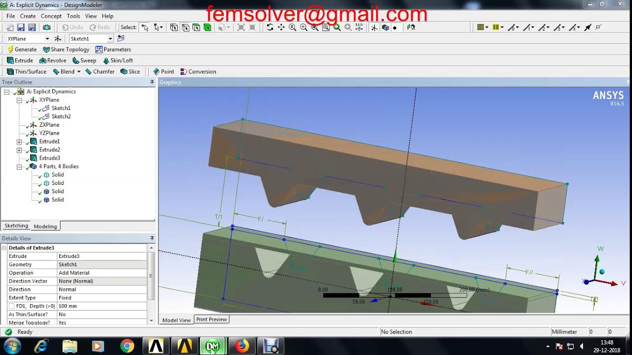 bending sheet metal simulation in ansys workbench