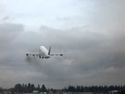 Boeing Dream Lifter take off - Paine Field Airport Everett, Washington US