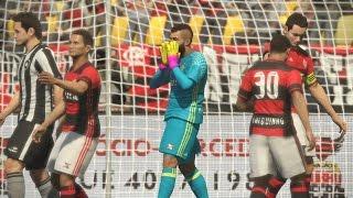 Flamengo x Botafogo 23/04/2017 Semi final Campeonato Carioca - PES 17  Estádio Maracanã