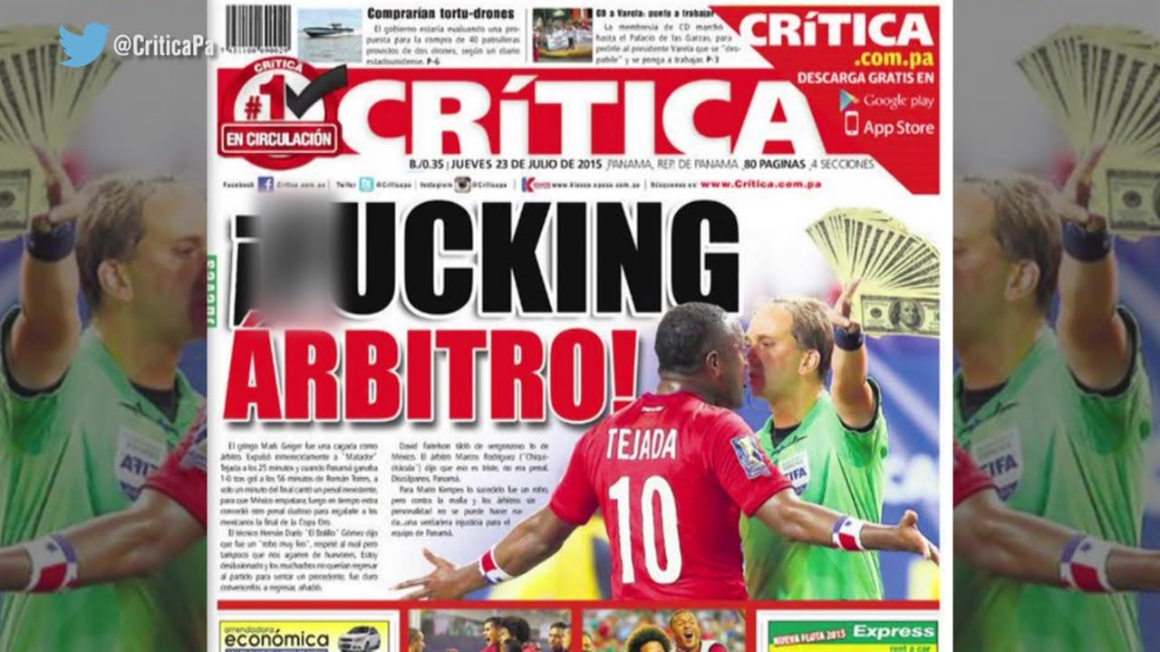 The Front Page Of The Critica In Panama Is Not Holding Back Youtube