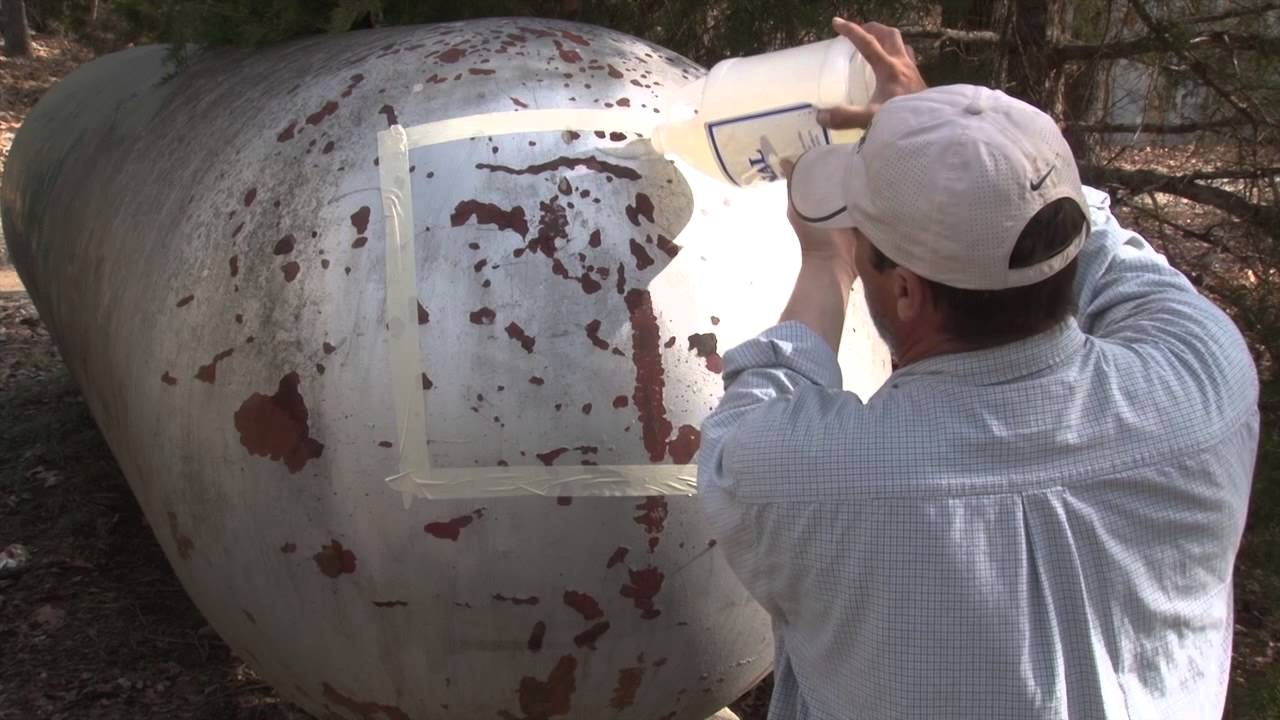 How To Paint Removal P A C E Gel Propane Tank