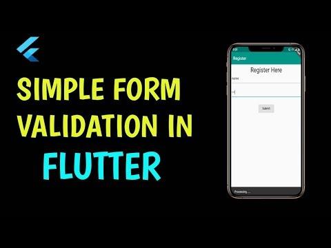 Flutter: Simple Form Validation