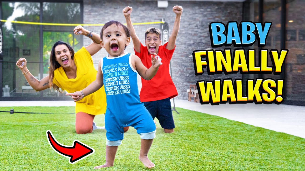 Download Baby Milan WALKS For The FIRST TIME!! (EMOTIONAL) | The Royalty Family