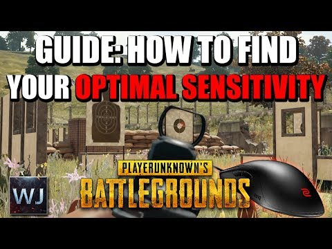 GUIDE: How to find your OPTIMAL MOUSE SENSITIVITY in PLAYERUNKNOWN's BATTLEGROUNDS (PUBG)