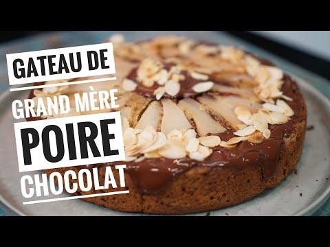 recette-du-gateau-poires-chocolat,-un-gâteau-de-grand-mère-qui-déchire